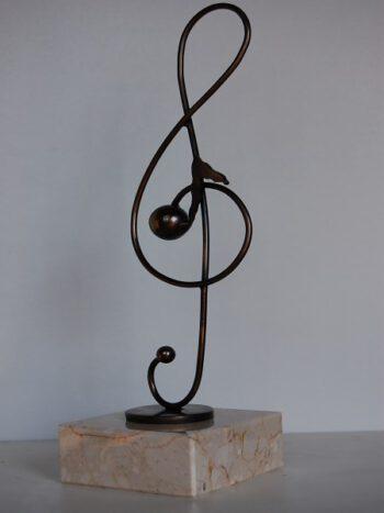Statuetka muzyczna Klucz wiolinowy
