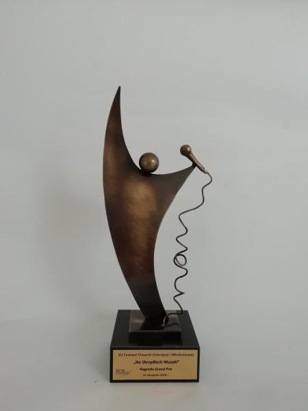 Statuetka muzyczna Postać mikrofon